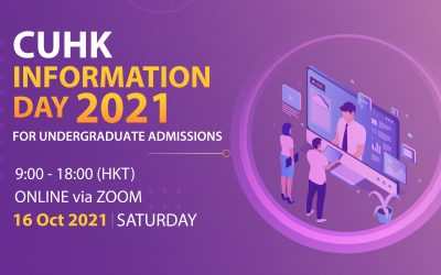 CUHK Information Day 2021 – Online Admission Talks